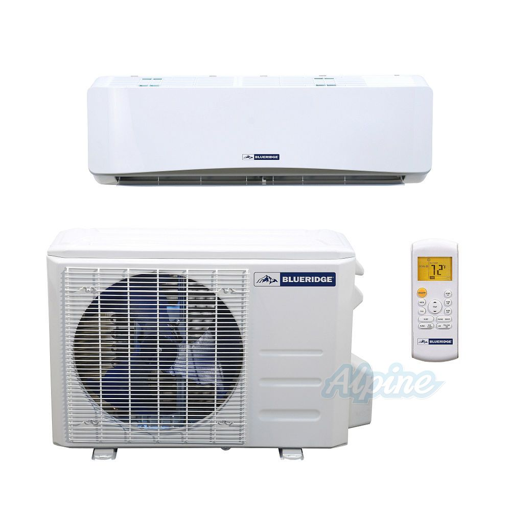 Blueridge Bm36y16 36 000 Btu 3 Ton 16 Seer Single Zone Mini Split Heat Pump System Wifi Capable