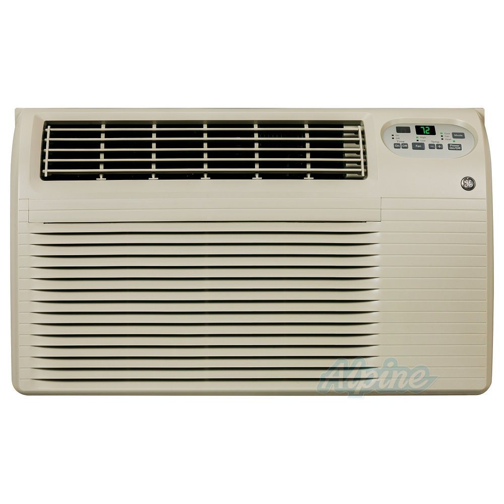 GE AJEQ12DCF 12 000 BTU Cooling 11 200 BTU Heating 230 208 Volts Through  the Wall Room Air Conditioner with 3 4 kW Heat Strip