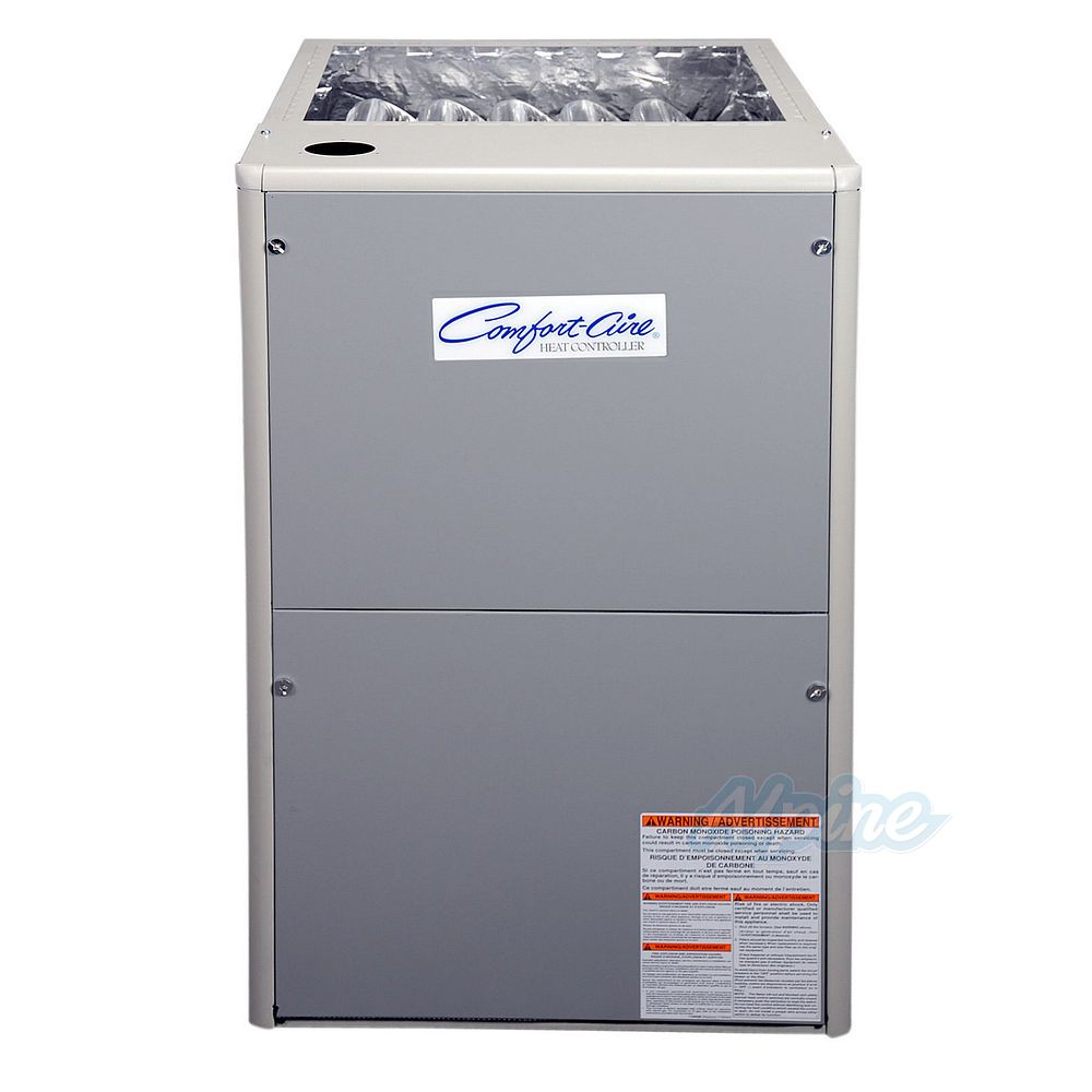 Comfort Aire GUH95A038B4XE 38 000 BTU Furnace 95 Efficiency 1 Stage Burner  1 600 CFM Fixed Speed PSC Upflow Horizontal Flow Application