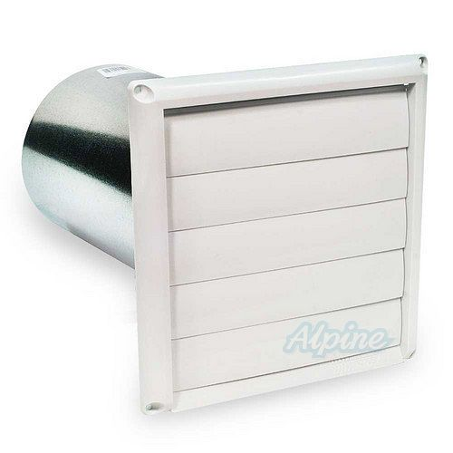 Bathroom Exhaust Fan With Shutter: Fantech HS 6W Louvered Shutter With Tailpiece 6in Round Duct