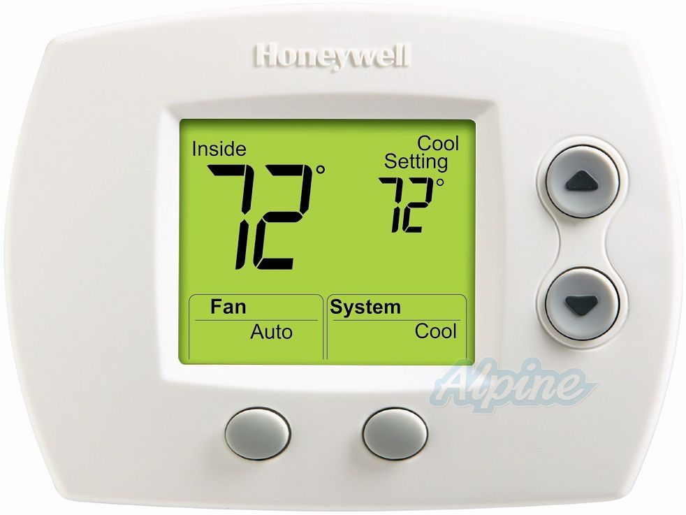 Honeywell Th5110d1022 Instructions Brochures Focuspro 5000 Universal Non Programmable Thermostat One Stage Heat One Stage Cool Large Screen