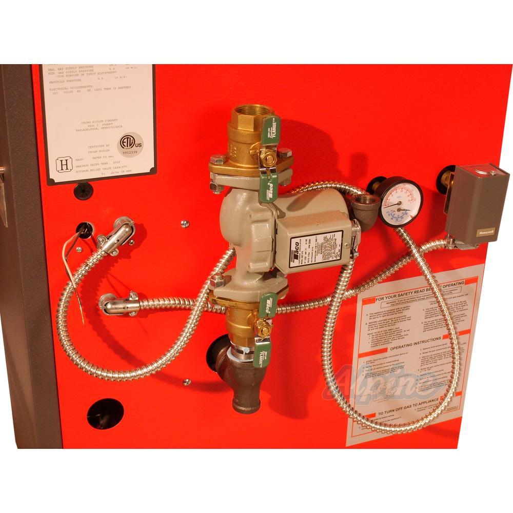 crown boiler company bwf095en 95 000 btu water boiler 83 1. Black Bedroom Furniture Sets. Home Design Ideas