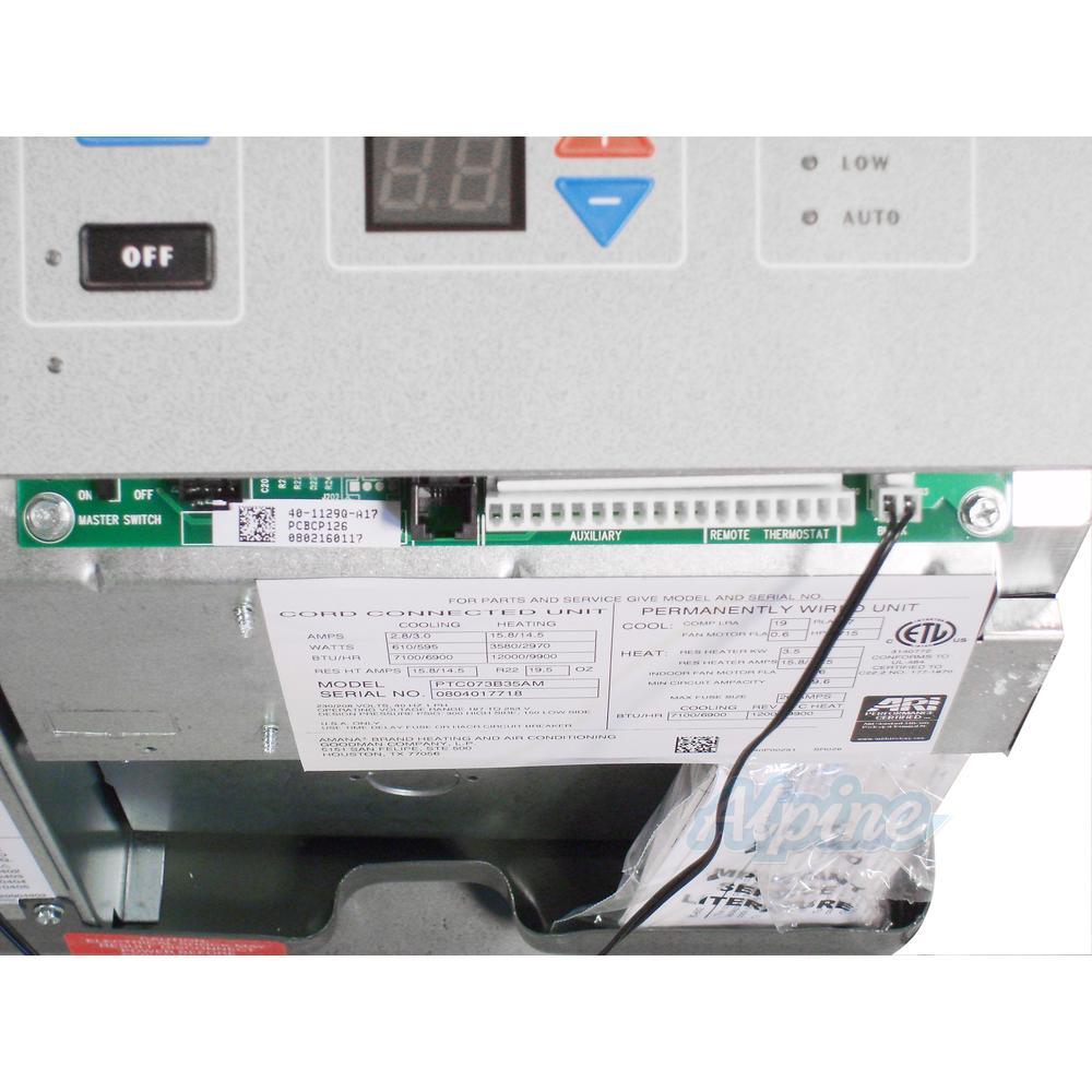 Amana PTC123G35AXXX KIT 11 500 BTU Cooling 1 Ton 12 000 BTU