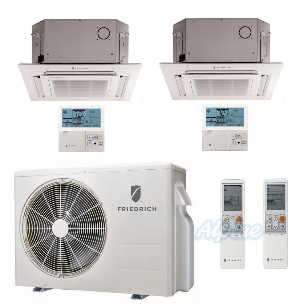 Friedrich Fmz24dj22 12c 18c 24 000 Btu 2 Ton 21 7 Seer Ductless Mini Thermostat Wiring Diagram Split Dual Zone Heat Pump System