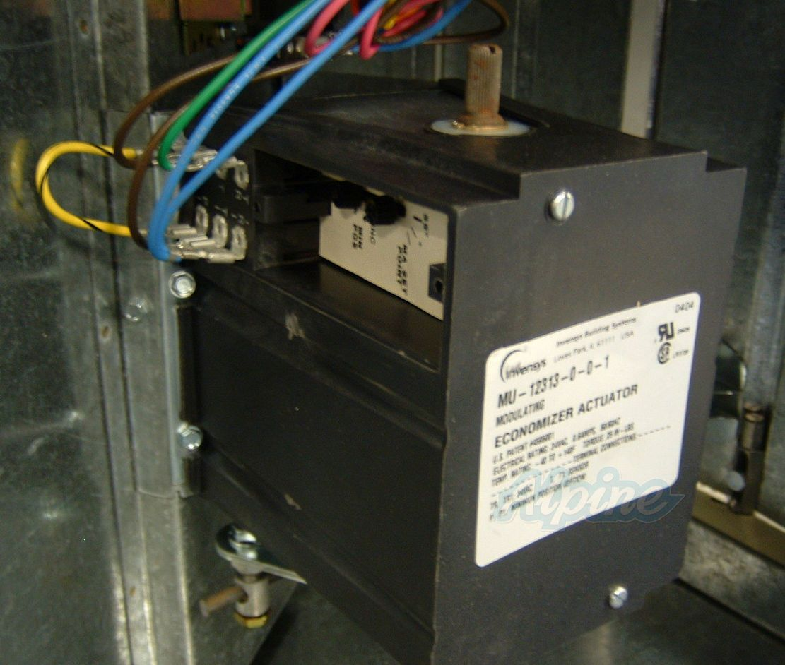 Downflow Economizer-Actuator at an Angle