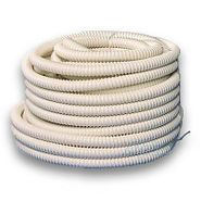 Large drain hose coiled