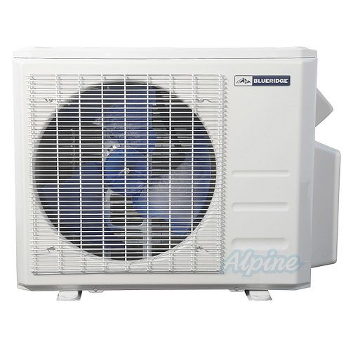 Blueridge 18,000 BTU 21 3 SEER Ductless Mini-Split Two Zone Heat Pump