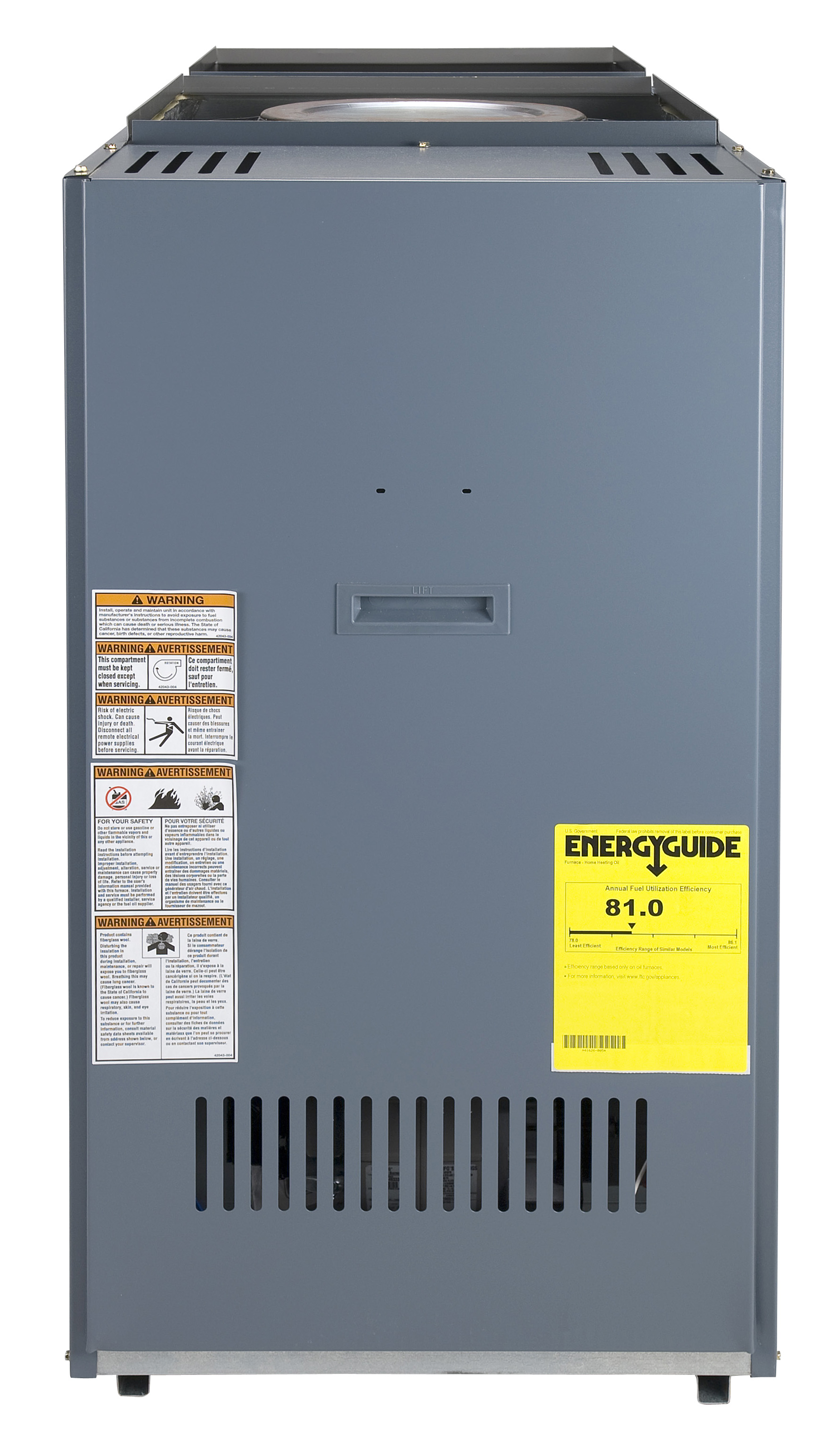 Comfort Aire Olrb125 D5 2a Lowboy Rear Flue 134 000 151 Input Oil Furnace Stack Control Wiring Diagram 134000 151000 Btu