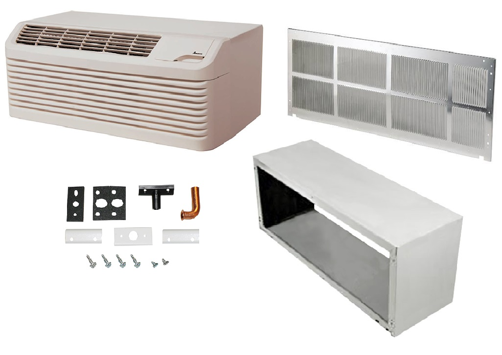 Amana 14,000 BTU 9 7 EER PTH153G50AXXX Heat Pump Ptac Kit Bundle